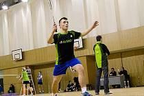 DAVID STEJSKAL. Vesecký badmintonista se stal trojnásobným přeborníkem oblasti.