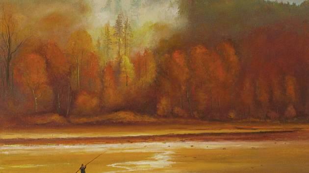 PANENSKÉ MOTIVY JIZERSKÝCH HOR jsou jednou z největších inspirací Rudolfa Schiffnera. Kromě obrazů však dokáže rovným dílem zaujmout i svým originálním způsobem výtvarného zpracování dřevěných ploch, které si osvojil při opravě roubenky.