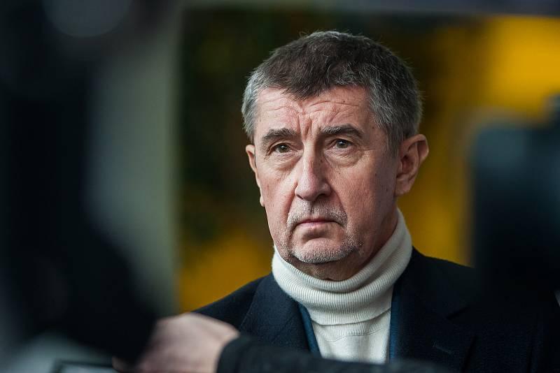 Výjezdní zasedání vlády ČR v Libereckém kraji proběhlo 13. března. Na snímku je premiér v demisi Andrej Babiš (ANO) před schůzkou se členy Rady Libereckého kraje.