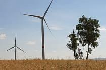 VĚTRNÉ ELEKTRÁRNY nově dodávají energii  z osady Andělka, která spadá pod Višňovou.