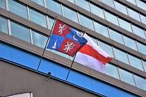 Historická vlajka Běloruska.