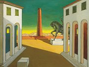 Giorgio de Chirico: Piazza d´Italia, 1971. Sbírka H. Klewana.