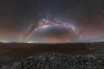 Mléčná dráha v poušti Atacama
