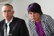 Lídryně kandidátky SOS do krajských voleb, současnou náměstkyni hejtmana Libereckého kraje Lidii Vajnerovou.