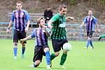 Fotbalisté béčka Stráže porazili doma Dolní Řasnici (v zeleném) 2:0.