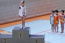ADÉLA HORNÍKOVÁ. Jedna z nejmladších libereckých gymnastek vyhrála svoji kategorii.