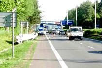 Nehoda na silnici 35 mezi Chrastavou a Libercem.