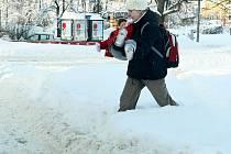 V Liberci napadlo v noci ze 14. na 15.prosince kolem třiceti centimetrů sněhu.