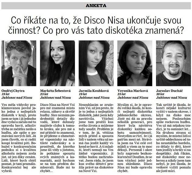 Co říkáte na to, že Disco Nisa ukončuje svou činnost? Co pro vás tato diskotéka znamená?