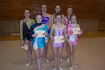 Děvčata z liberecké moderní gymnastiky.