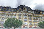 MONTREUX PALACE. Hotel, ve kterém se často ubytovávali členové Queen, ale i další kulturní osobnosti.