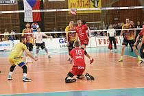 Finále play-off volejbalové extraligy mezi VK Dukla Liberec a VK Jihostroj České Budějovice.
