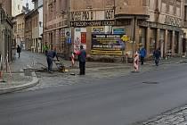 V Palackého ulici se stále pracuje.