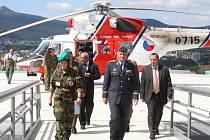 Heliport v Liberci může využívat, jako jeden z mála, i armáda.