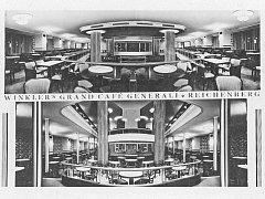 KAVÁRNA NISA V MINULOSTI. Na dobových snímcích exteriér a interiér kolem roku 1940.