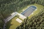 Vizualizace budoucí podoby areálu lesního koupaliště v Liberci