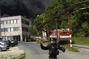 Požár liberecké Severochemy.