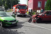 Nehoda ve Vratislavicích nad Nisou.