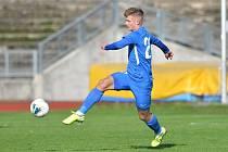 FC Slovan Liberec B - TJ Sokol Živanice (9.kolo) 1:4. Na snímku Dominik Gembický.