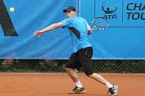 Na snímku je liberecký tenista David Prokop.