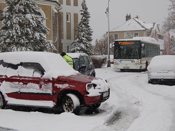 Nečekané březnové počasí cestou zRuprechtic do centra města.