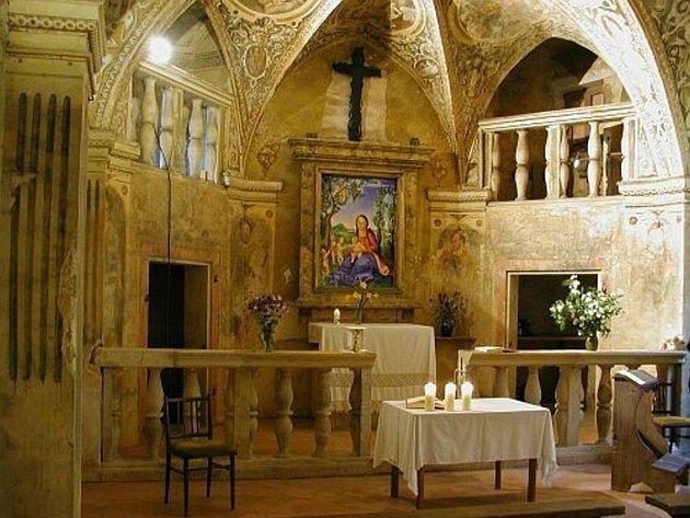 Kaple sv. Barbory.