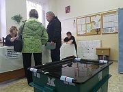 1. kolo prezidentských voleb v okrsku č. 6 v Jablonci nad Nisou