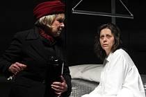 MARKÉTA TALLEROVÁ A MICHAELA LOHNISKÁ v nastudování drsného irského dramatu Žena a Megera na Malé scéně divadla F. X. Šaldy.