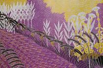 Hana Šuranská, Digitální vegetace III, 2010, linoryt, papír, 84 x 130 cm