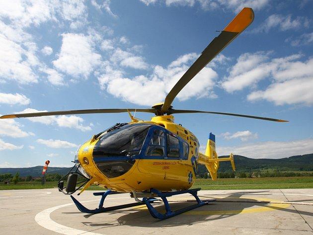 Vrtulník liberecké záchranky