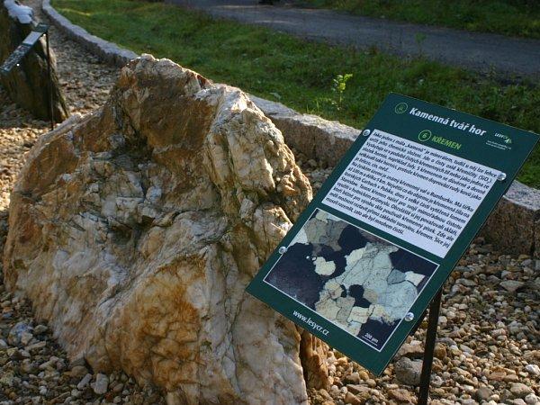 HORNINY ANEROSTY staré istovky milionů let ukazuje geologická stezka vRaspenavě.