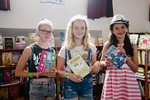 Festival dětské knihy v Lidových sadech v Liberci.