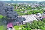 Fotografie z požáru v Severochemě.