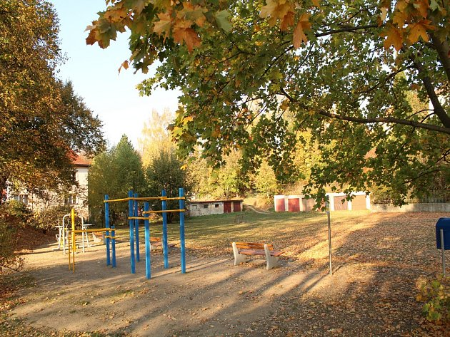 Hřiště v liberecké Svojsíkově ulici.