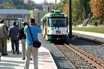Ukončení rekonstrukce tramvajové trati u bývalé Textilany.