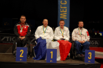 Handicapovaný stolní tenista Jiří Suchánek vpravo.