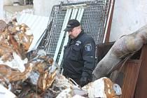 Policista ve sběrně.Ilustrační foto.