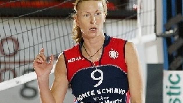 Blokařka Marcela Ritschelová.
