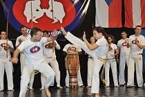 VETERÁN VE FINÁLE. Liberecký Michal Honzejk (vlevo) v duelu s vítězkou Radkou Mikešovou.