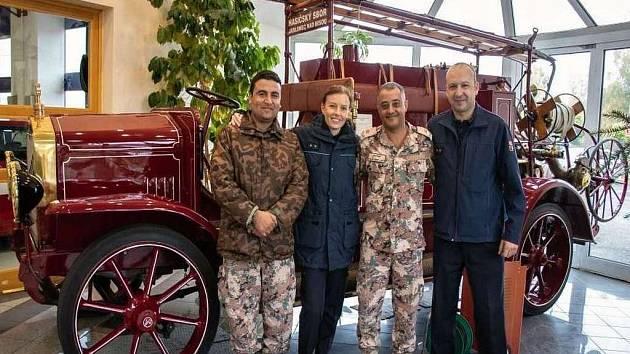 Příslušníci ozbrojených sil Jordánska zavítali na 2 dny k hasičům.