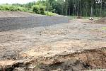Dolní část výsypky lomu, kde bude od srpna realizována technologie Wetland+