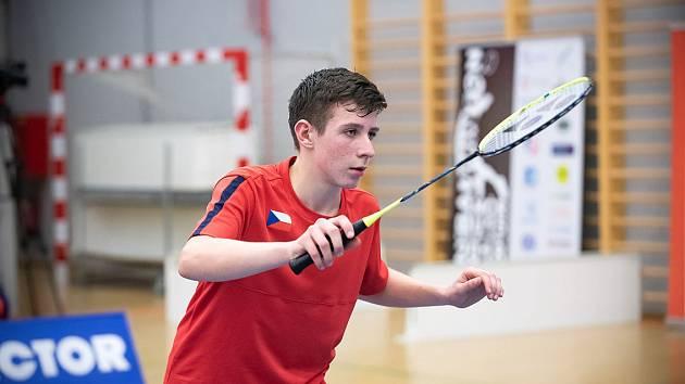 Jan Rázl během badmintonového zápasu