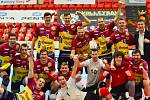 Radost libereckých volejbalistů z postupu do finále poháru.