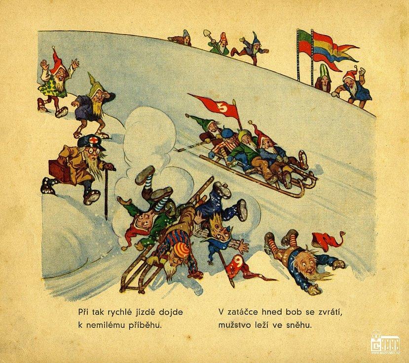 Mezi zapomenuté příběhy patří také Olympiada v zemi skřítků. Je to bohatě ilustrovaná kniha s veršovaným příběhem o zimních radovánkách od Josefa Brtka a Ernsta Kutzera. Vydána byla v roce 1936 v českolipském Kaiserově nakladatelství pro mládež a lid.