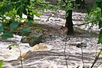 24. července bylo tak špatné počasí, že říčka Smědá se málem vylila z břehů.
