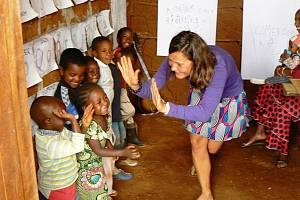 Výuka v Kamerunu.