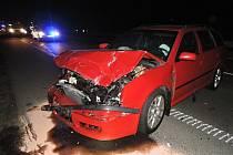 Dopravní nehoda, která se stala v Příšovicích na 68. kilometru silnice R10 ve směru na Turnov.