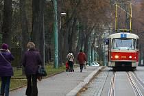 Tramvaj míří do Lidových Sadů