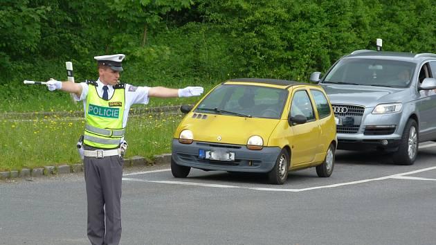 Policista Ota Uchytil v akci.