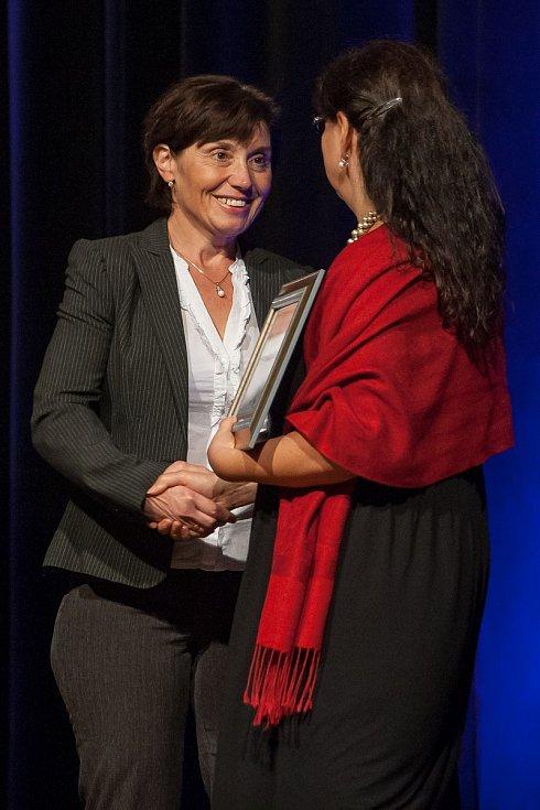 Titul Pečovatelka roku Libereckého kraje byl vyhlášen 2. října v Liberci. Na snímku je Lenka Roučová.